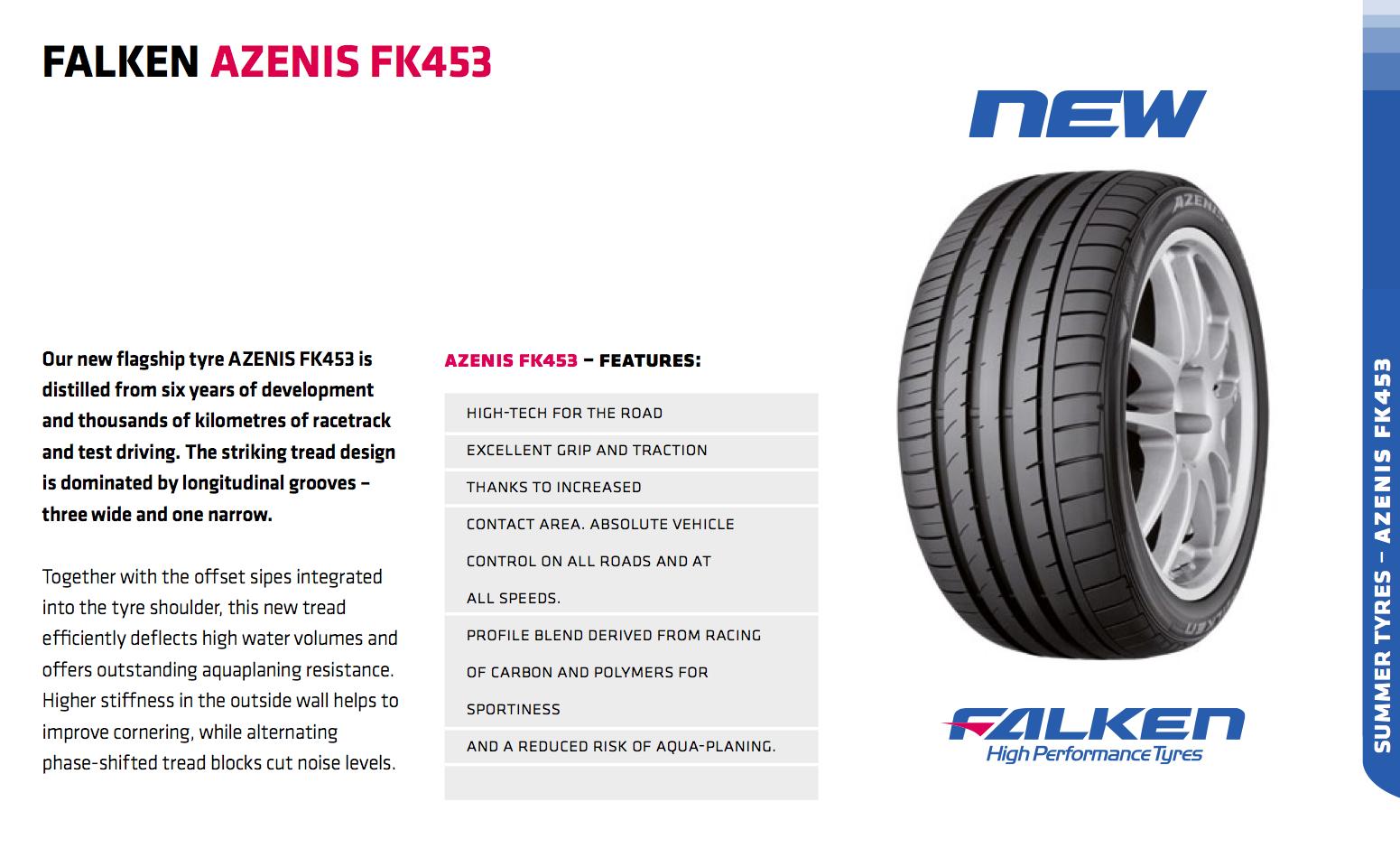 Summer Tyre FALKEN FK453 265/40R18 01 Y