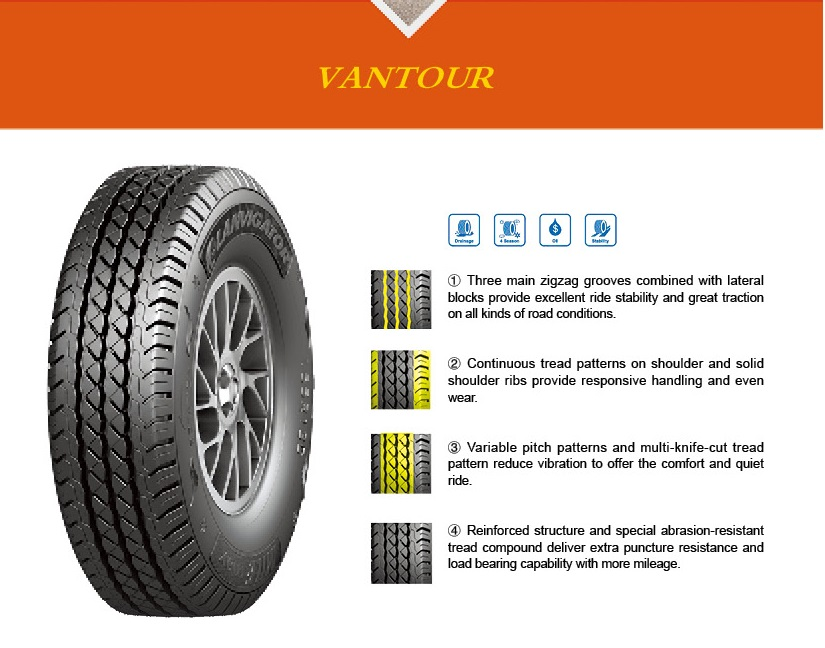 Tyre POWER TRAC VANTOUR 195/70R15 02 R