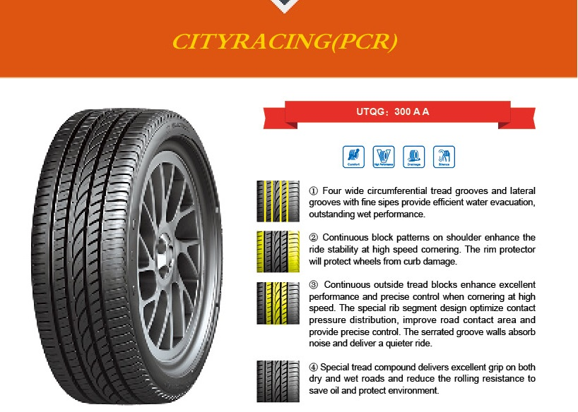 Tyre POWER TRAC CITYRACING 225/35R20 90 W