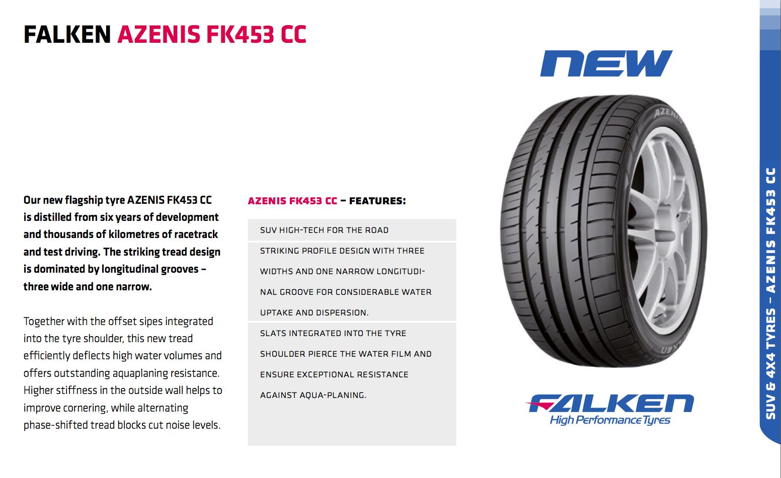 Summer Tyre FALKEN FK453CC 255/50R20 09 W