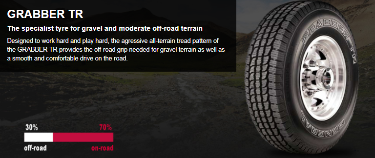 Summer Tyre GENERAL GEGRBTR 265/70R15 12 H