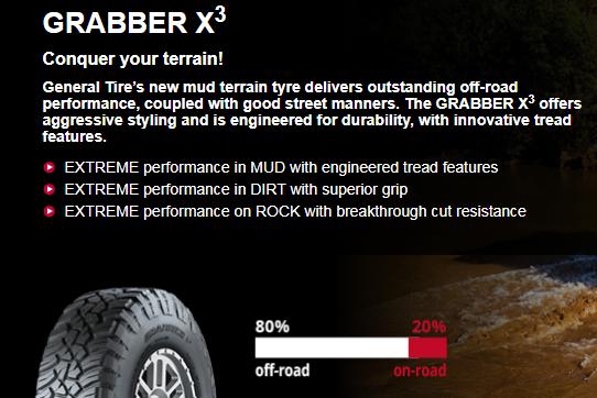 Summer Tyre GENERAL GEGRBX3 265/75R16 16 Q